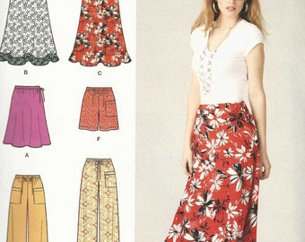 Simplicity 1807 Set of skirts and shorts pants with drawstring waist patch pockets Size 8-10-12-14-16 16-18-20-22-24 (uncut) sewing pattern