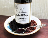 Elderberry Syrup 8 fl oz Organic Herbs Immune System Boost Kids & Adults Vitamin C Raw Local Honey
