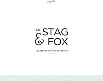 "Pre Made Logo Design - Small Business Logo - ""Stag & Fox"""