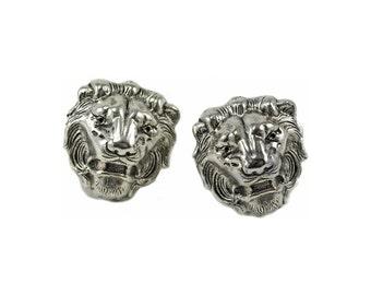Lion Cuff Links  Silver Men's Cufflinks