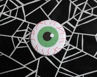 Eyeball - Halloween Pinback Button Pin OR Magnet