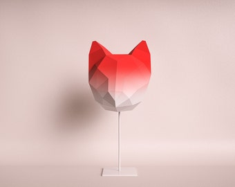 Penguin do it yourself paper lamp shade cat medium red gradient do it yourself paper lamp shade solutioingenieria Image collections