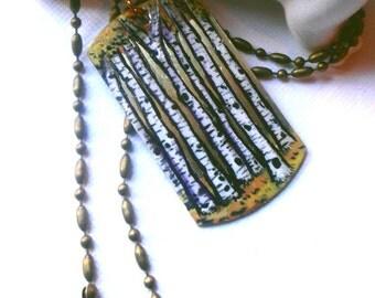 Birch Tree Pendant, hand painted pendant, nature jewelry, custom art, trees, birch tress, tree necklace