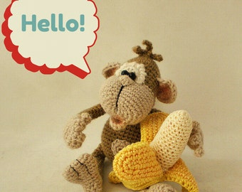 Monkey – Crochet Pattern by ToyMagic [PDF Instant Download Amigurumi Toy]
