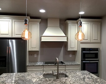 Extra Large Globe Edison Pendant Light - Kitchen Island Pendants, Glass Globe Pendant Lighting