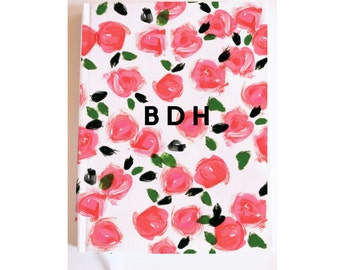 Monogrammed Journal / Notebook: Rosy {Personalized Notebook, Fashion Notebook, Preppy Notebook, Hardcover Journal, Fashion Notebook}