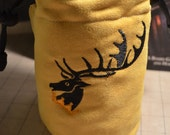 Dice Bag custom Embroidery Suede Yellow/gold game of thrones Baratheon