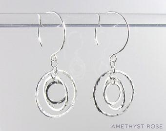 Spinning Orbits Earrings ~ Sterling Silver Dangle Earrings ~ Handmade Jewellery