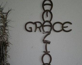 Horseshoe cross, Amazing grace.