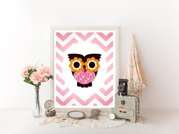 owl decor printable 8x10 owl decor download