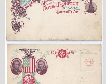 31st National Encampment G.A.R. Buffalo, N.Y. 1897 Postcard; unused, undivided back