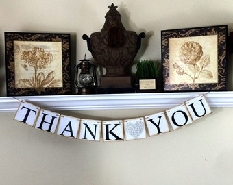 Wedding Thank You Banner, Thank you Sign, Thank you Banner, Wedding Reception Thank you card, Wedding thank you photo card