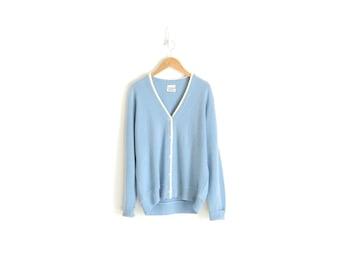 Blue Cardigan Pastel Goth Boyfriend Cardigan Pastel Sweater Vintage Kawaii Clothing 50s Sweater Pastel Blue Cardigan Womens Medium Large