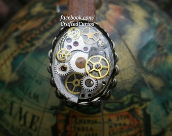 Steampunk Ring, Steampunk Jewelry, Steampunk Accessories, Fallout, Doctor Who Ring, Harry Potter Ring, Vampire Ring, Pirate Ring, Geek Ring