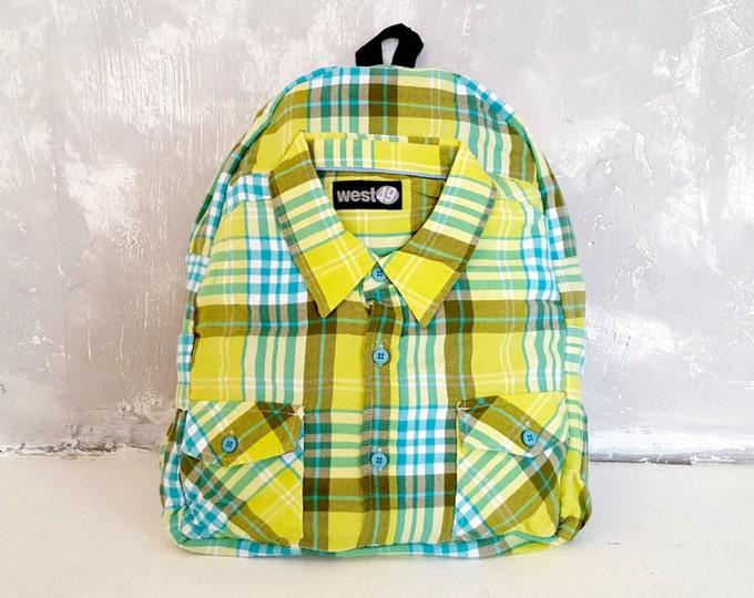 Vegan backpack, women backpack, unique backpack, eco backpack, cotton backpack, recycled backpack, laptop backpack, 80s backpack, school bag
