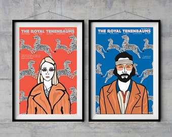 The Royal Tenenbaums - Character Posters - Original Illustration