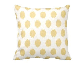 7 Sizes Available: Decorative Pillows Throw Pillow Covers Yellow Pillow Cover Yellow Ikat Pillows Yellow Accent Pillow Cushion Covers