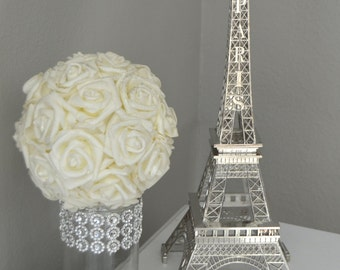 Eiffel Tower Centerpiece. Parisians Theme Decor. Paris Wedding Decor. French inspired centerpiece. Pick Your Color.