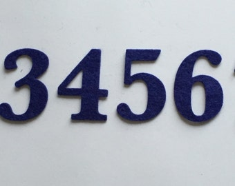 Felt Numbers - Individual - Die Cut - Selection of Colours