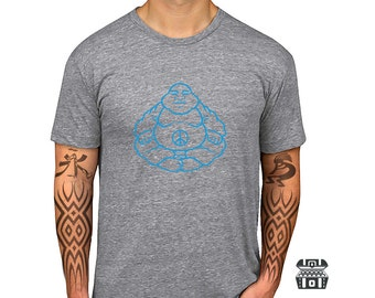 Sale: Peace Icon buddha shirts tshirts - Vintage buddha Tee - Yoga Shirt  - Buddha Tshirt - Yoga Clothes - Yoga T Shirt - Meditation Shirt