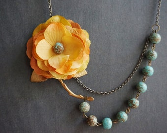 statement necklace turquoise necklace bridesmaid by rachelled