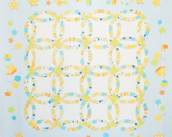 Baby Quilt Panel.- Quilter's First 2015 - LECIEN L31229-70 Blue - 1 Panel