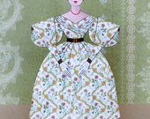 """Louisa, a Grodnertal """"Tuck Comb"""" Style 3-D Dress-Up Paper Doll Kit"""
