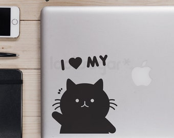 Laptop Decal - Cat Lovers Decal - Cat decal - LSCD-A0001TF