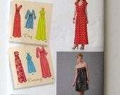 SALE 2000s Dress Pattern, Simplicity 1804, Womens Strapless, V Neck or Halter Mini or Maxi Dress Sewing Pattern, Size 14-22 Bust 36-44 UNCUT