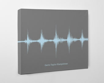 Baby Heartbeat Canvas, Pregnancy Gifts, Custom Baby Shower Gift, Modern Nursery Decor, Baby Keepsake Gift, Sound Wave Art, For the Nursery