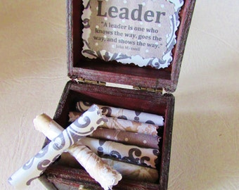 Boss Day Gift Boss Birthday Gift Boss Christmas Gift Leadership Scroll Box Boss Gift Idea Leadership Gift Boss Quote Leadership Quote Boss