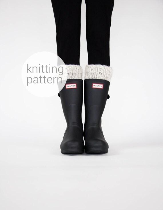 Pattern / Ozetta Knit Boot Warmers Leg Warmers Boot Cuffs Pattern For The Arctics