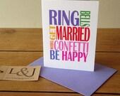 Wedding Day Card, Bridal Shower Card, Marriage Cards, Wedding Congrats, Wedding Day Wishes, Bridal Shower, Card For Bride, Card For Groom
