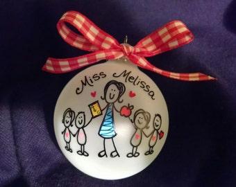 teacher personalized ornament,christmas ornament,teacher gift,school teacher's gift,gift, christmas gift ornament,personalized