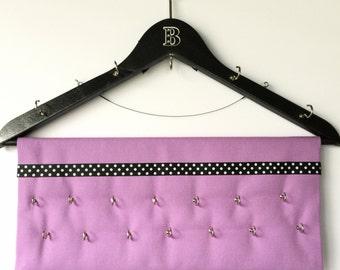 Jewelry Organizer Closet Storage Purple handmade Personalized