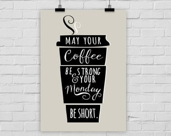 fine-art print poster STRONG COFFEE