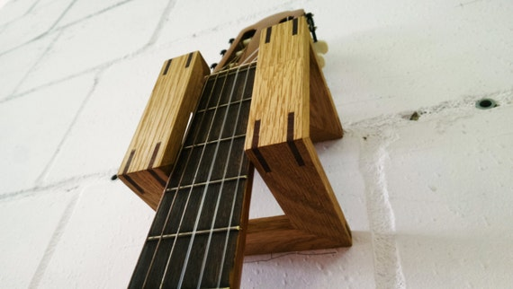 Modern Guitar Wall Hanger  Rack Made From Recycled By Huondesign