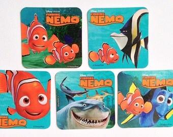 Finding Nemo Refrigerator Magnets, 5 Party Favors, Disney Pixar Magnet Set, Home Decor Dory, Easter