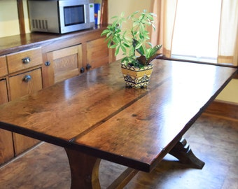 The Coraline - Antique Reclaimed Wood Trestle Table