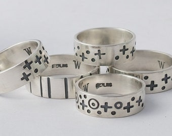 Stamped Sterling Silver Bands