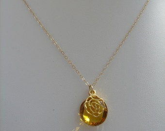585-er gold filled necklace with citrine!