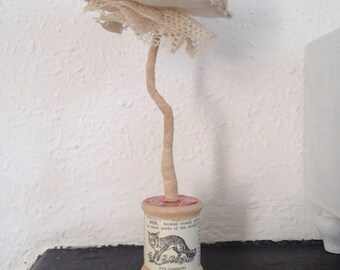 Textile fungi soft sculpture (neutral)
