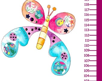 Butterfly Height Chart, Height Charts, Wall Height Chart, Growth Chart, Kis Wall Chart, Pirate Room Theme