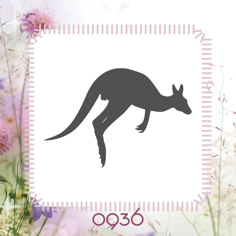 kangaroo animal stencil reusable craft stencil