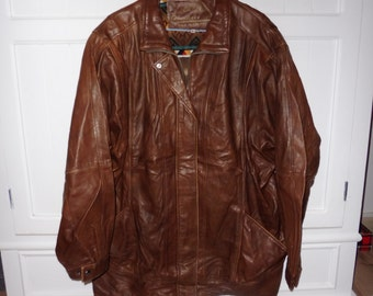 BRANDT AND CO size 42 leather jacket