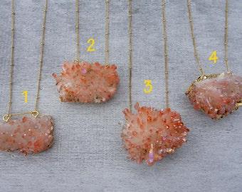 Sunset Aura Crystal Necklace