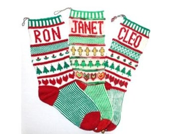 Pattern for Welcome to the Family Christmas Stocking