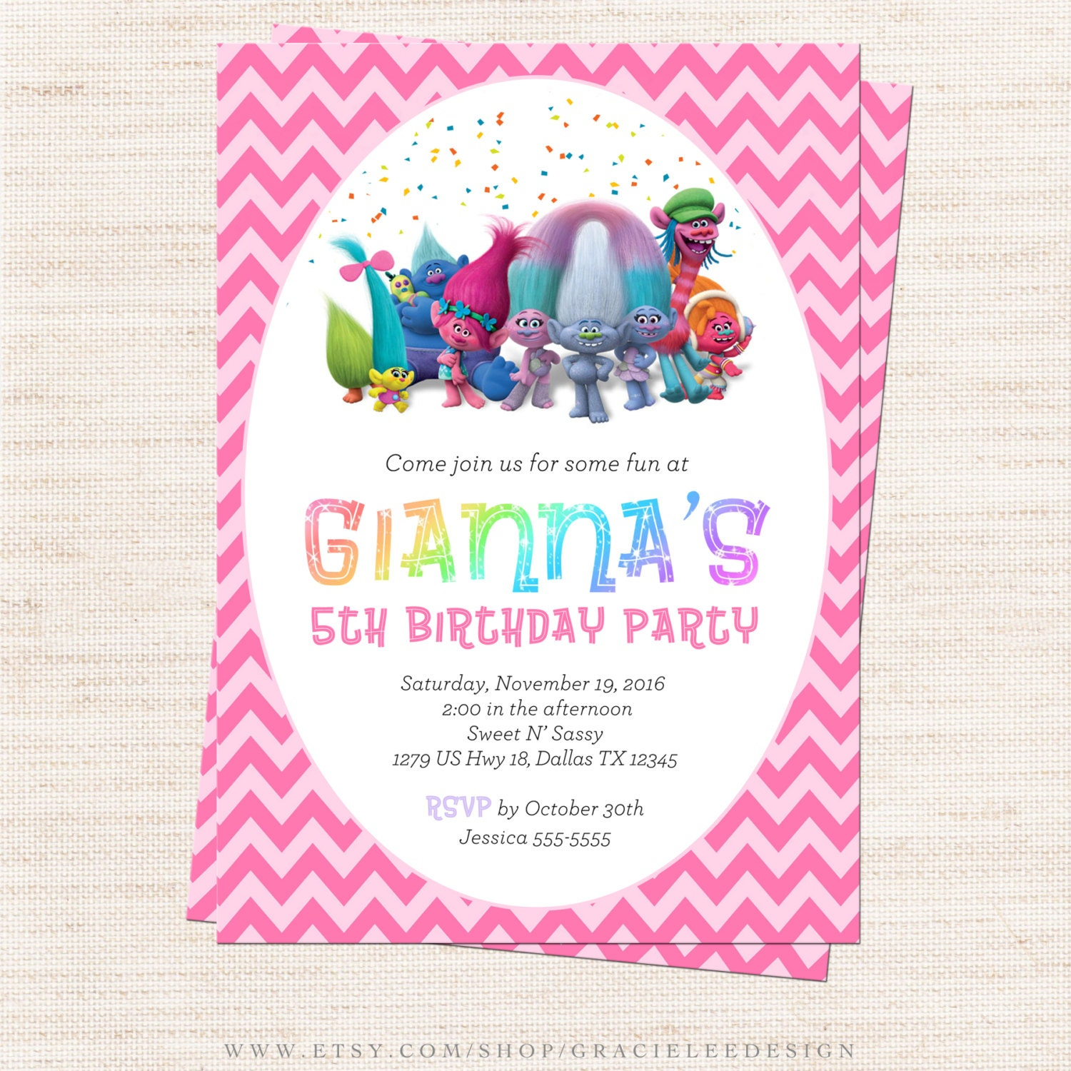 num nom inspired invitation num nom invitation printable trolls inspired birthday party invitation trolls rainbow party invitation printable girl birthday gracie lee design