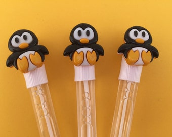 Penguin Favor - Penguin Party Favor, Penguin Party Supplies, Penguin Bubble Favor
