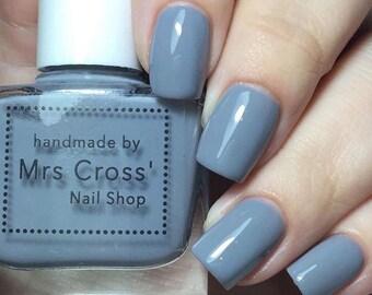 SALE - Grey Nog - 10ml - handmade in the UK Indie Nail Polish